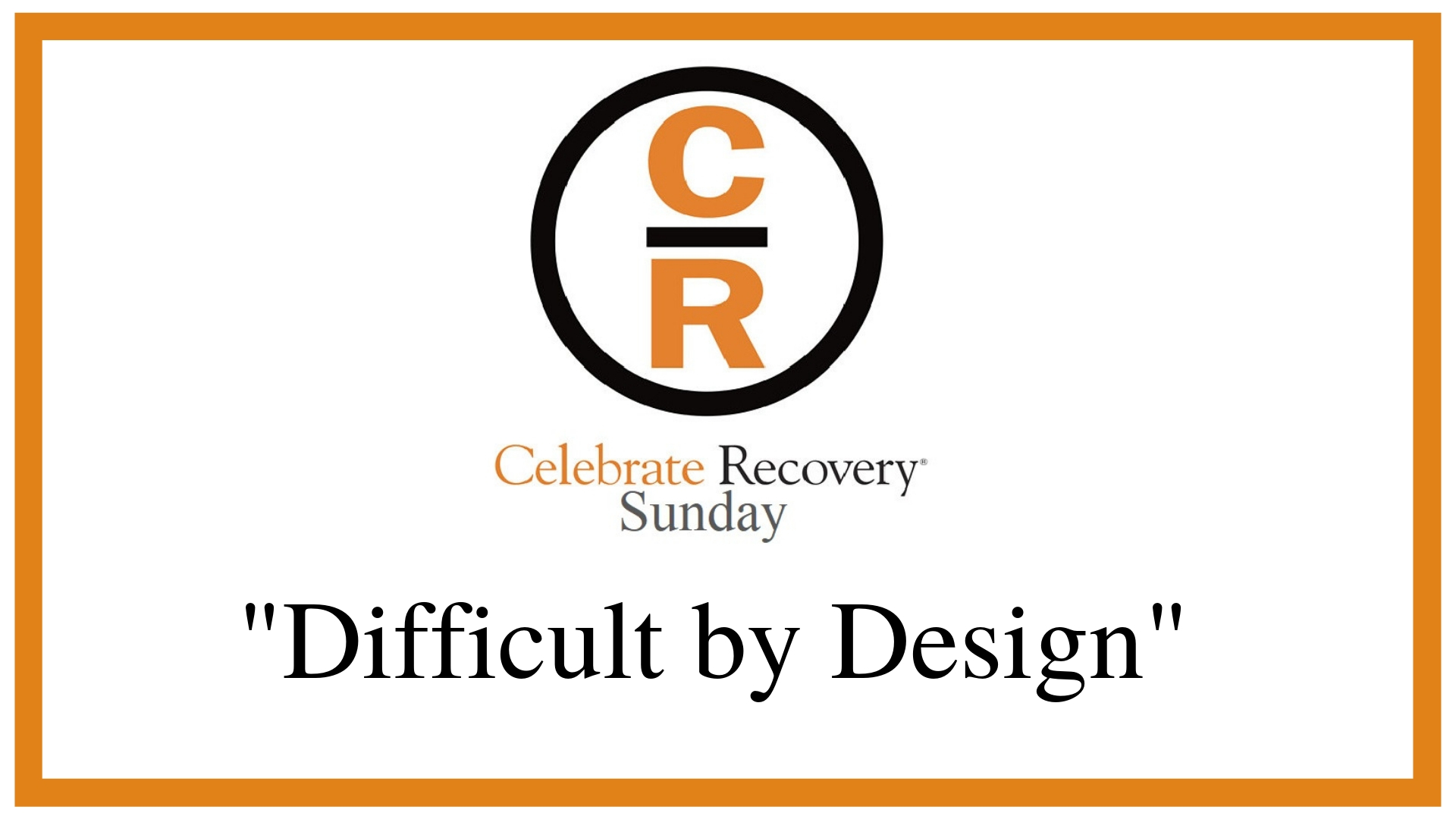 "CR Sunday – ""Difficult by Design"" – Jason Schillingburg"